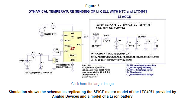 the schematics replicate the SPICE macro model of the LTC4071