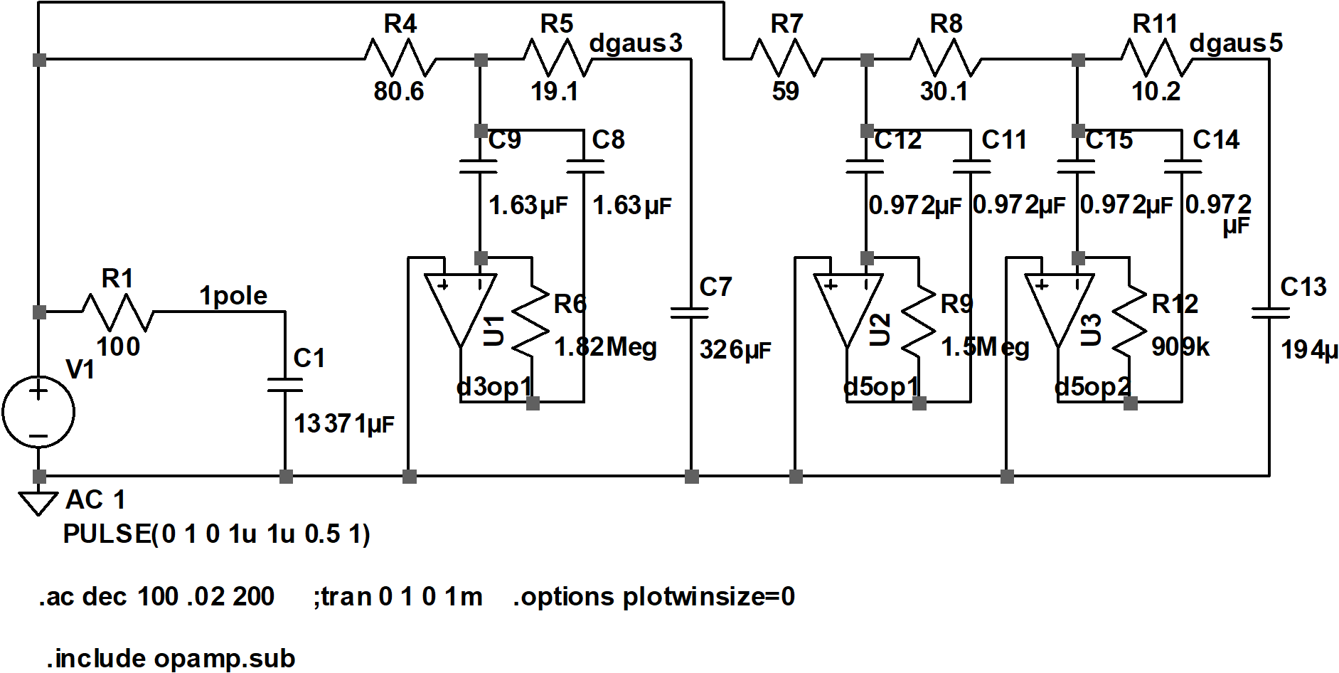 active filter schematic