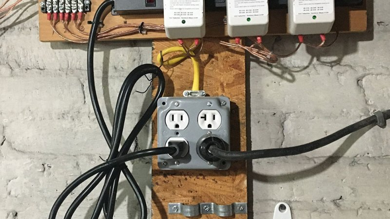 photo of the new power strip layout