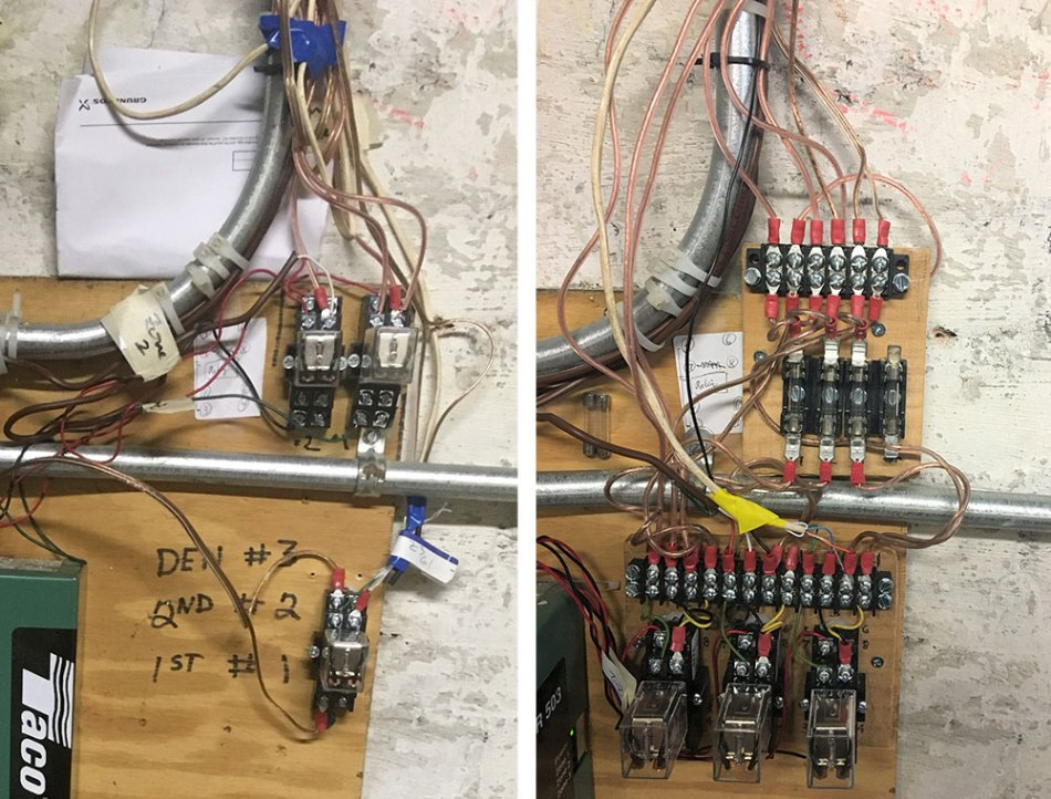 photo comparing the old and new wiring