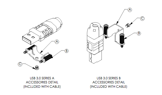 diagram of rugged USB 3.0 cable