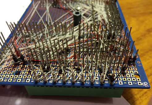photo of a wire wrapped Arduino smart controller board
