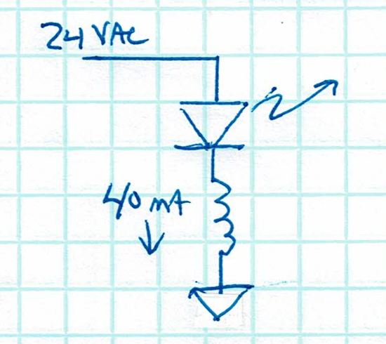 DPST and LED relay schematic
