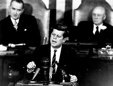 Kennedy Sets Goal to Put Man on the Moon - May 25, 19611