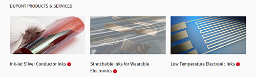 Possible applications for printed electronics products (Source: DuPont/Wearable electronics)