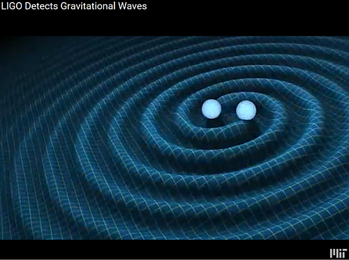 The announcement of the detection of gravitational waves by the LIGO (acronym of Laser Interferometer Gravitational-Wave Observatory) (Source: YouTube)