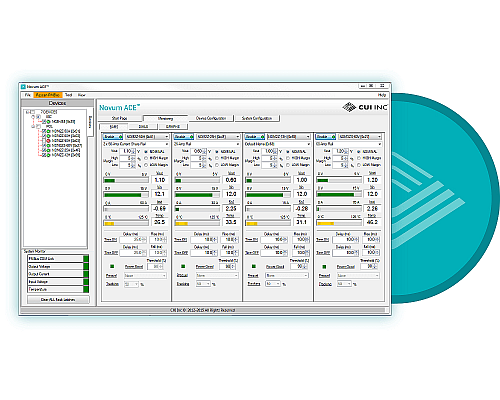 A software GUI helps simplify configuration of digital power converters. [Picture source: CUI, Inc]