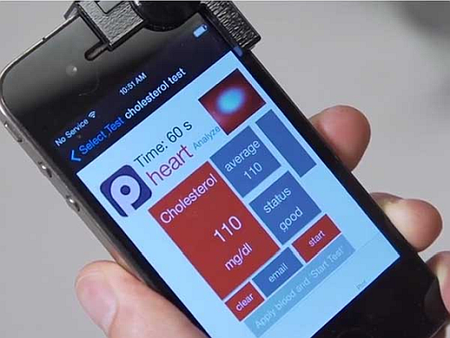 A medical quick and low cost test of the biological parameters of a patient available on the user smartphone by means of a dedicated app. (Source: Android Blog)