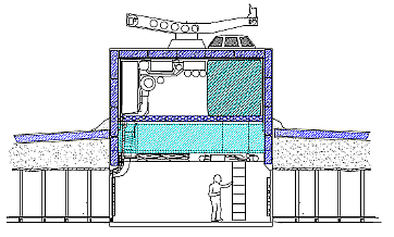 A cross-section of the habitat Central Hub Module (CHM) (Image courtesy of Reference 1)