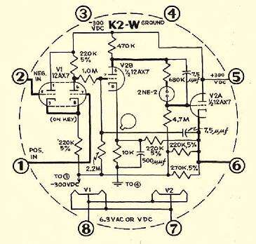The schematic for the K2-W, in case you want to build your own. (Source: George A. Philbrick Researches Archive)