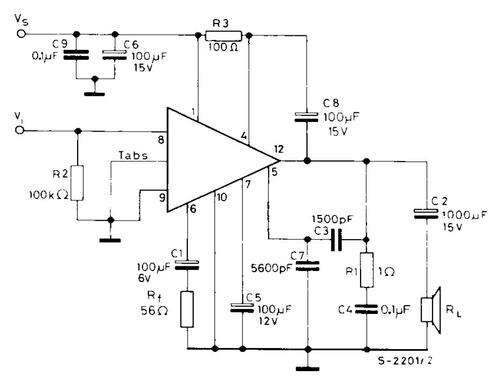 A typical applications schematic for the SGS-Thomson TDA810 (from its long since out of print data sheet). Thomson took over some of the RCA semiconductor devices when RCA got out of the business.