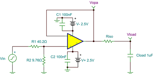 Modified circuit with 50Ω input divider
