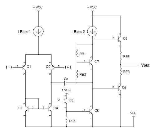 A typical op-amp circuit