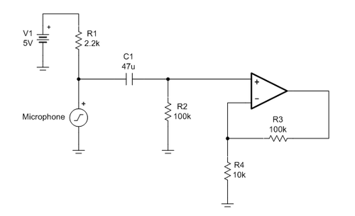 A customer circuit from the Precision Amplifier Forum on the TI E2E Community that exhibits a large offset at the output of the op amp.
