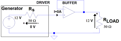 Circuit from Figure 2 with a decoupling buffer.