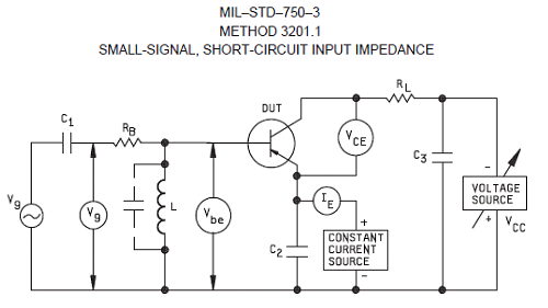 One of the MIL-STD-750 test methods to measure a small signal parameter, the short circuit input impedance of a radiation hard power switch.