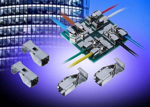 Exhibiting full connector performance without the added expense of an insulator and its associated assembly costs, AVX's 9296 Series single poke-home wire-to-board contacts enable the simple, reliable, and solderless termination of power, signal, and ground wires in a broad range of harsh industrial applications.