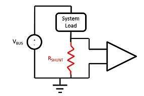 Simplified circuit diagram configured for low-side current-sensing.