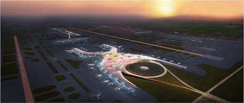 The new Mexico City airport project overview. (Image:  Fosters+Partners)
