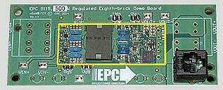 Efficient Power Conversion was showcasing their 1/8 brick design at a whopping 500W! This is a fully-regulated design to show the tremendously enhanced performance that can be attained using the Gen 4 eGaN FETs and eGaN EPC2020 half-bridge driver in a conventional architecture. (Image courtesy of EPC)