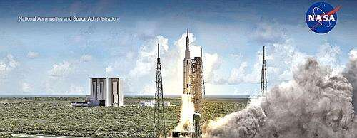 Space Launch System (SLS) (Image courtesy of NASA JPL)