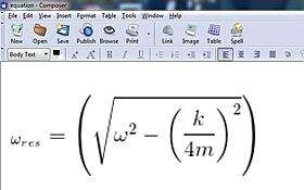 Equation Resulting from Using the Online Equation Editor in Reference [3]
