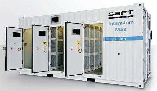 Saft energy storage solution Intensium Max+ 20E (Image courtesy of Saft)