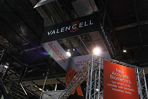 Valencell's booth at CES 2016