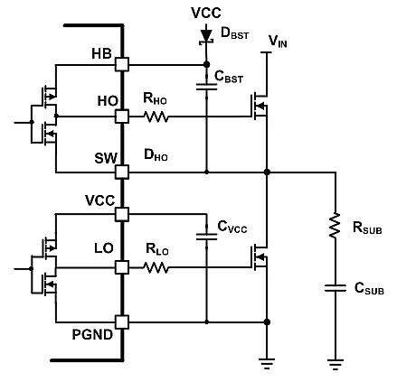 Turn-on and turn-off circuit