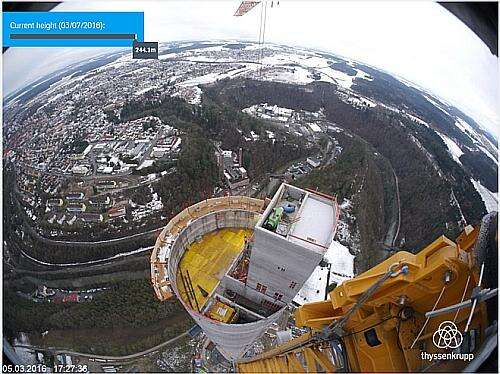 The test tower in Rottweil, Germany (Source: Thyssenkrupp tower)