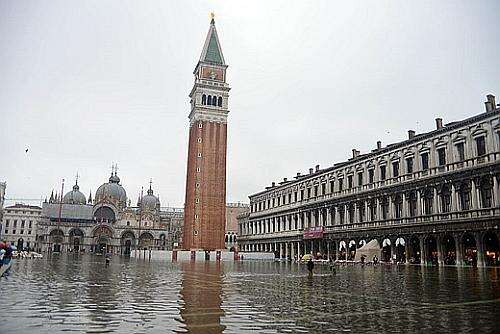 The 'acqua alta' in Venice, Italy (Source ilPOST.it)