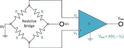 Wheatstone Bridge Differential Amplifier
