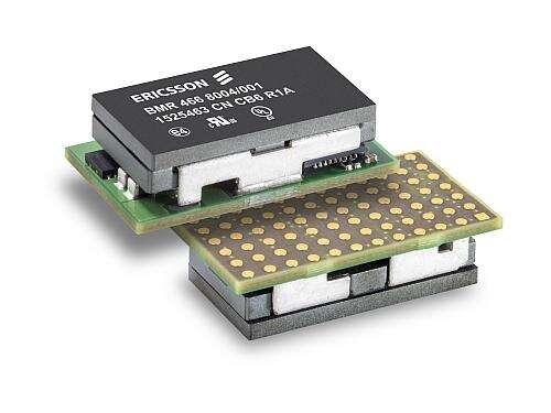 AMP Group co-founder Ericsson Power Modules' BMR466  uses the LGA package for thermal efficiency