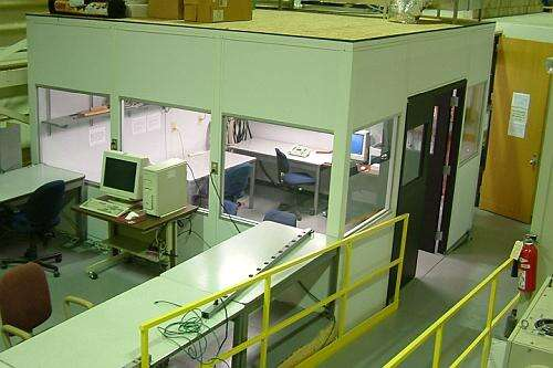 Data Room at the Cyclotron Institute at Texas A&M (Image courtesy of Reference 1)