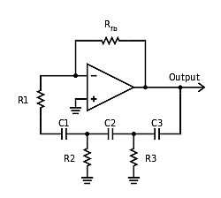 The phase shift oscillator is shown most often with a high pass feedback network.