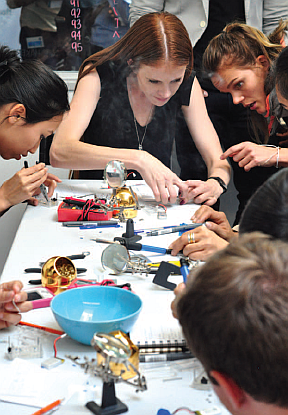 Mechatronics Engineer Michelle Easter at a NASA Space Apps Women in Data Bootcamp (Image courtesy of IEEE Women in Engineering Magazine)