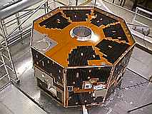 The IMAGE spacecraft at NASA being constructed and tested prior to year 2000 launch (Image courtesy of NASA)