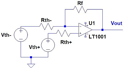 The circuit topology shown in Figure 1 is mapped to the above circuit