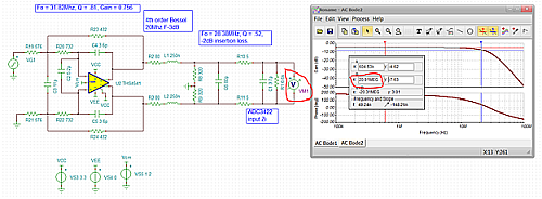 Click here for larger image  Original 4th order Bessel design simulated to ADC inputs (ref 2, page20)