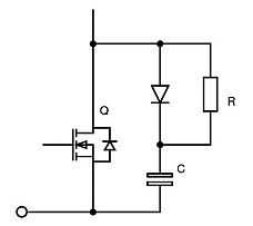 Snubbing across an IGBT or MOSFET
