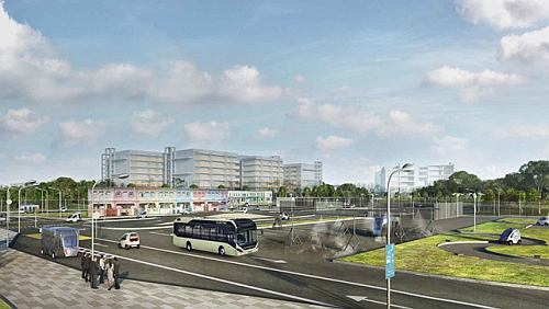 The autonomous electric bus solution to be used in Singapore by the Volvo Buses Company