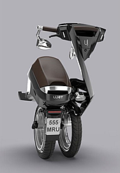 The foldable electric scooter produced by UJET 'The Ujet's ultra-light and robust frame is made of advanced composite materials traditionally used in Aerospace. With the total weight from 43 kg… Ujet folds comfortably in seconds. It can be stored easily in your home, office, trunk of your car or yacht' (Source: UJET)