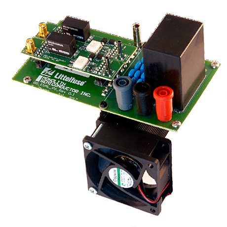 Littelfuse/Monolith Semiconductor has a Gate drive evaluation Platform, EVAL_GDEP_01, to test gate driving circuits under continuous working conditions to evaluate gate driver thermal performance and EMI immunity (Image courtesy of Littelfuse)
