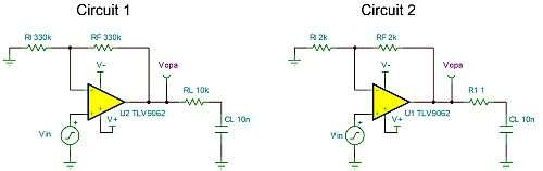 Click here for larger image  Twin unstable circuits with different component values and different stability issues