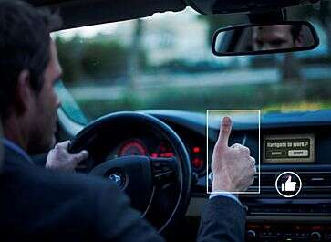 eyeSight's touch-free gesture recognition solution (Source: eyeSight/Automotive)