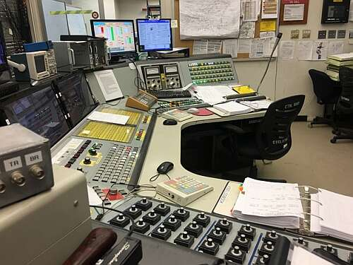 Cyclotron Control Room - Control Table