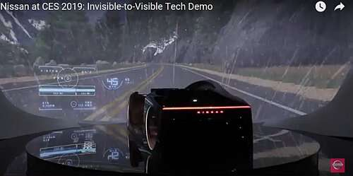 The Demo video of the I2V (acronyms of Invisible to Visible) technology by Nissan (Source: YouTube)