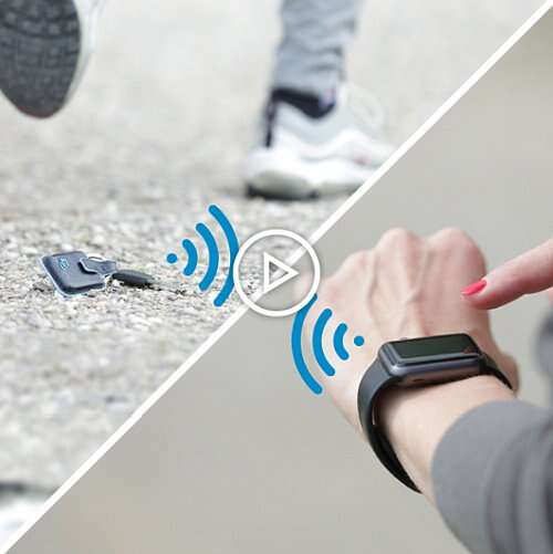 The CONNEQU tracker 'activates your smartphone/smartwatch ringtone (or sends a pop-up message if otherwise set by the customer). ' (Source PIQUADRO)
