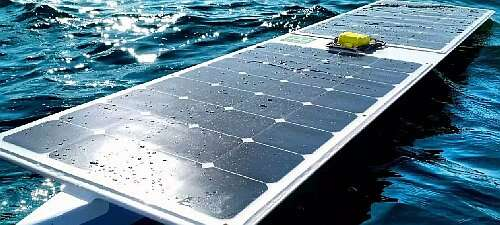 The SeaCharger, an autonomous boat solar powered which has travelled autonomously for 6,480 nautical miles (Source: makezine.com)