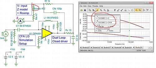 Click here for larger image  LG phase margin simulation for the dual loop capacitive load driver.